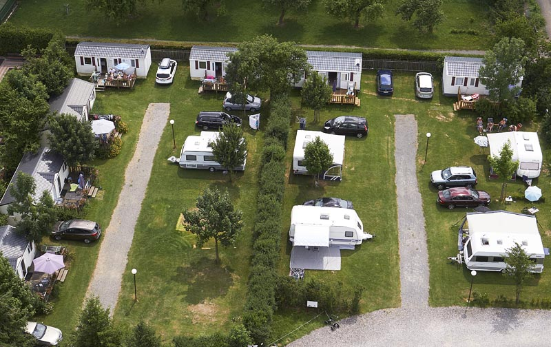 Camping Oase Prague - emplacements 1-12 et mobile homes 13-19